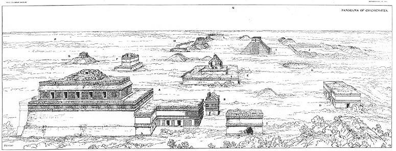 Chichen Itza Mexico Drawing Drawing of Chichen Itza by